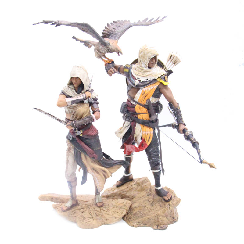 Game Character Aya & Bayek 25cm High Quality PVC Statue Action Figure Model ToysGame Character Aya & Bayek 25cm High Quality PVC Statue Action Figure Model Toys