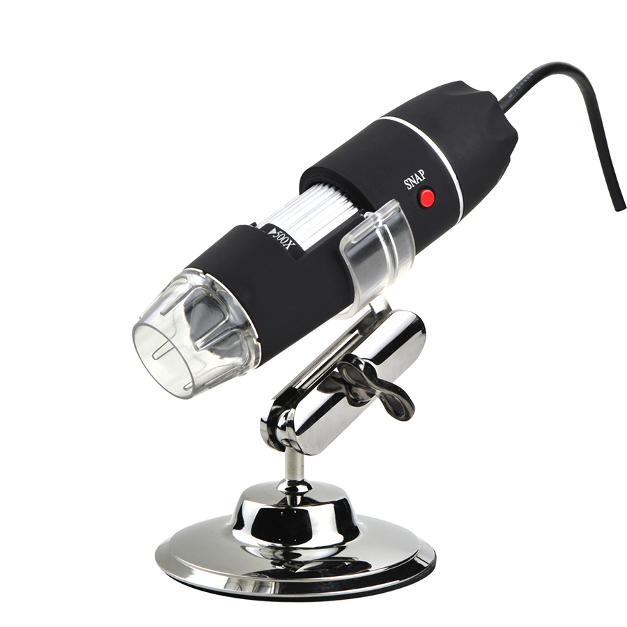 500X Digital USB microscope with 8 LED lights adjustable electronic biological microscope magnifier 50X-500X