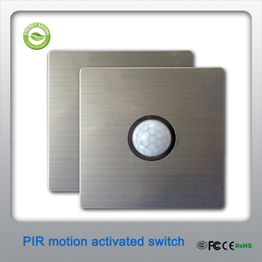 Sound And Light Control Delay Motion Sensor Switch For: 80x 80mm 2 Wire Connection Modern Style PIR Motion Sensor