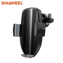 HAWEEL 10W Air Outlet 360 Degree Rotation QI Intelligent Sensor Car Wireless Charging Holder