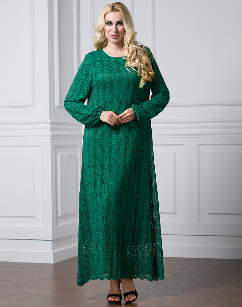 aliexpress : buy women muslim lace dress plus size 7xl luxury
