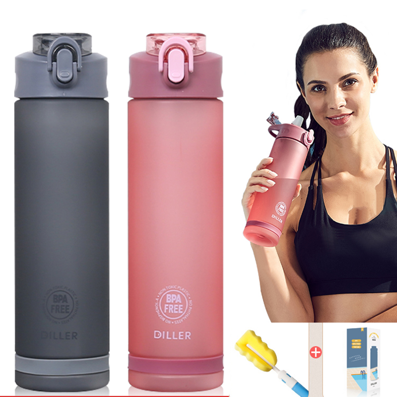 New Arrival Sports Water Bottle With Straw Tritan Plastic Outdoor My Bottles BPA Free Shaker Gym Bottle For School Kids|Water Bottles| |  - AliExpress