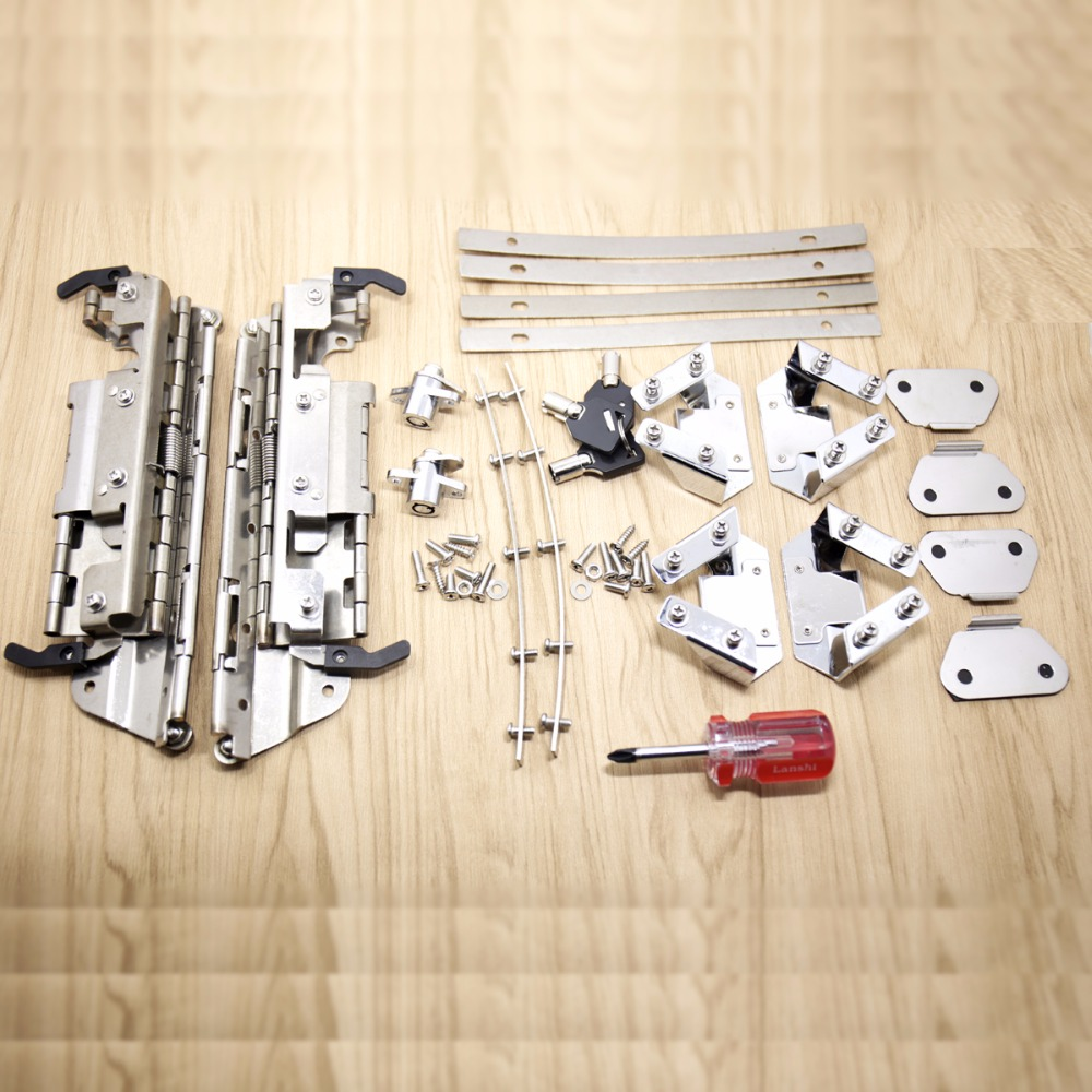 Hard Saddlebag Hardware Latch Lock Hinge Kits For Harley Touring Road King Electra Street Glide 1996-2013 FLHX FLHR FLH/T