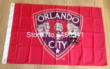 Orlando City SC Flag 3ft x 5ft Polyester MLS Orlando City SC Banner Flying Size No.4 144* 96cm QingQing Flag