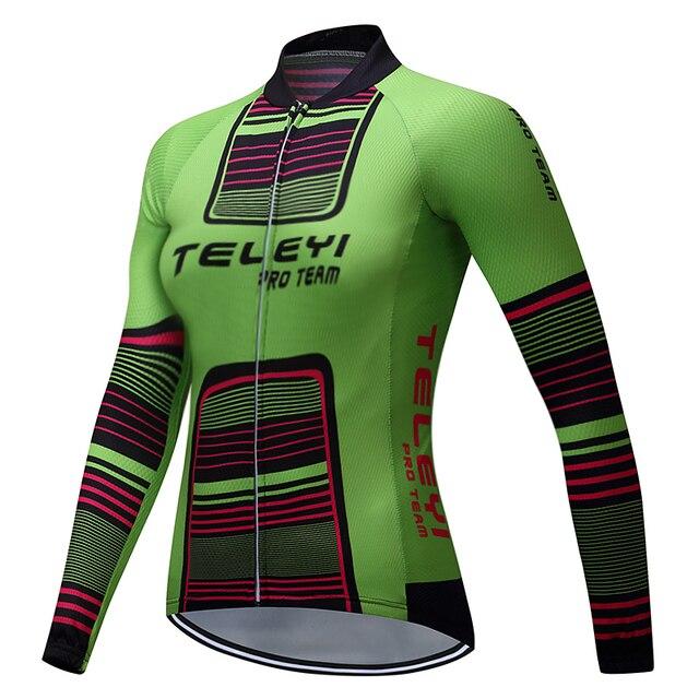 teleyi Brand Felicia Long Sleeve 100% Polyester Women Cycling Jersey Ropa  Ciclismo Autumn Racing Bike c73ec5585