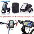 Универсальный Авто Водонепроницаемый Мотоцикл Маунт Велосипеда велосипеда Телефон Владельца Сумка soporte для iPhone 6 6 С Samsung Galaxy S3 S4