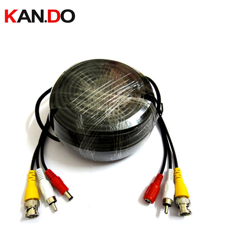 30M Audio Video Power Cable Transmitopm Video Signal And Supply DC Power Cable For Security Camera