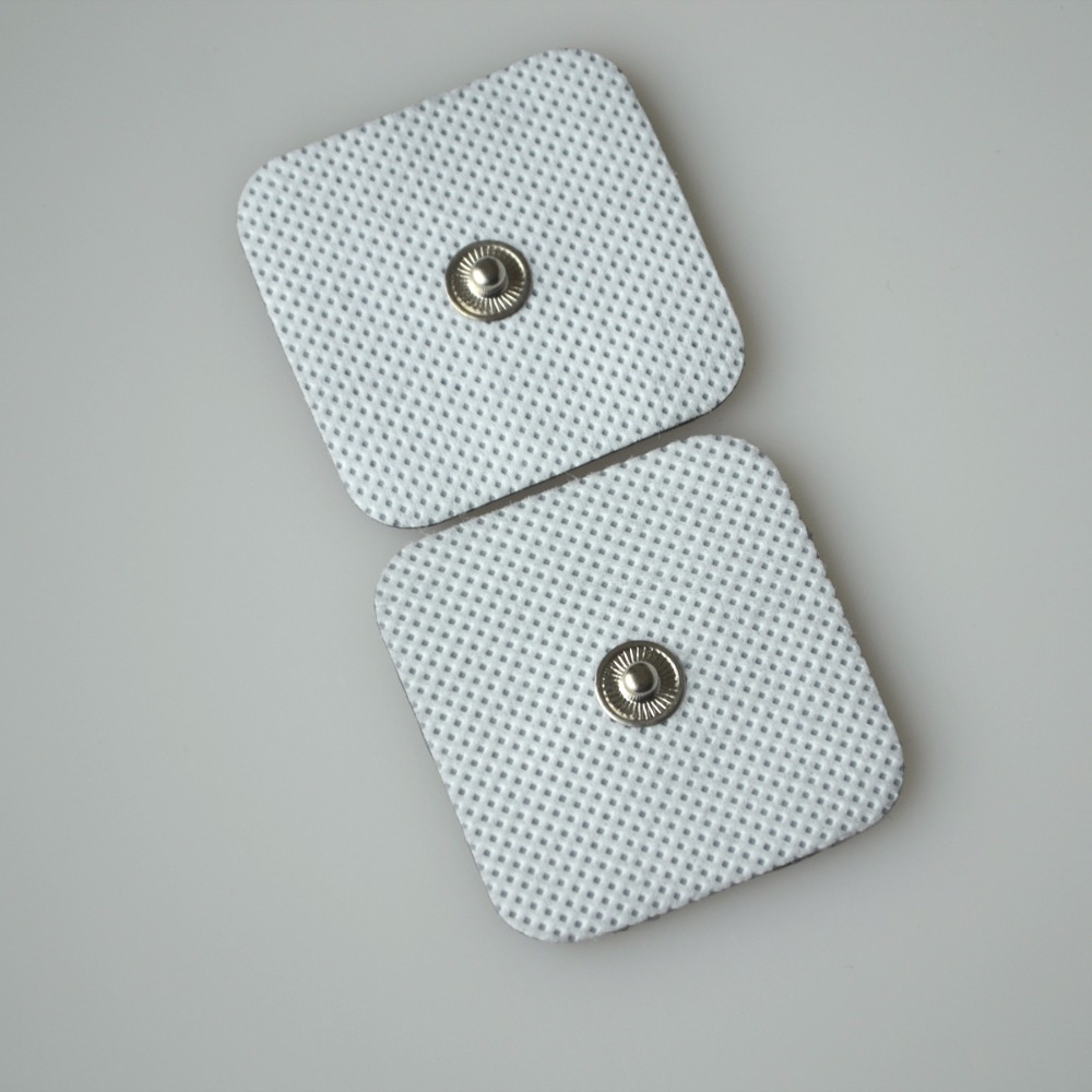 500PAIRS/PACK REPLACEMENT PATCHES NONWOVEN SILCONE ADHESIVE THERAPY STIMULATOR PADS BUTTON TYPE BODY  MASSAGER PATCHES hot sale free shipping 50pairs pack nonwoven replacement silcone adhesive tens massager patches physiotherapy electrode pads