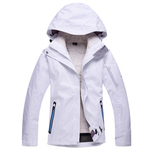 Free shipping Thicker coat Women's winter ski set snowboard suit women Outdoor waterproof windrpoof set skiing jacket