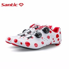 Santic 2017 New Men's Cycling Road Shoes with Carbon Fiber Sole Professional Fit Bicycle Shoes Breathable Bike Riding Lock Shoes