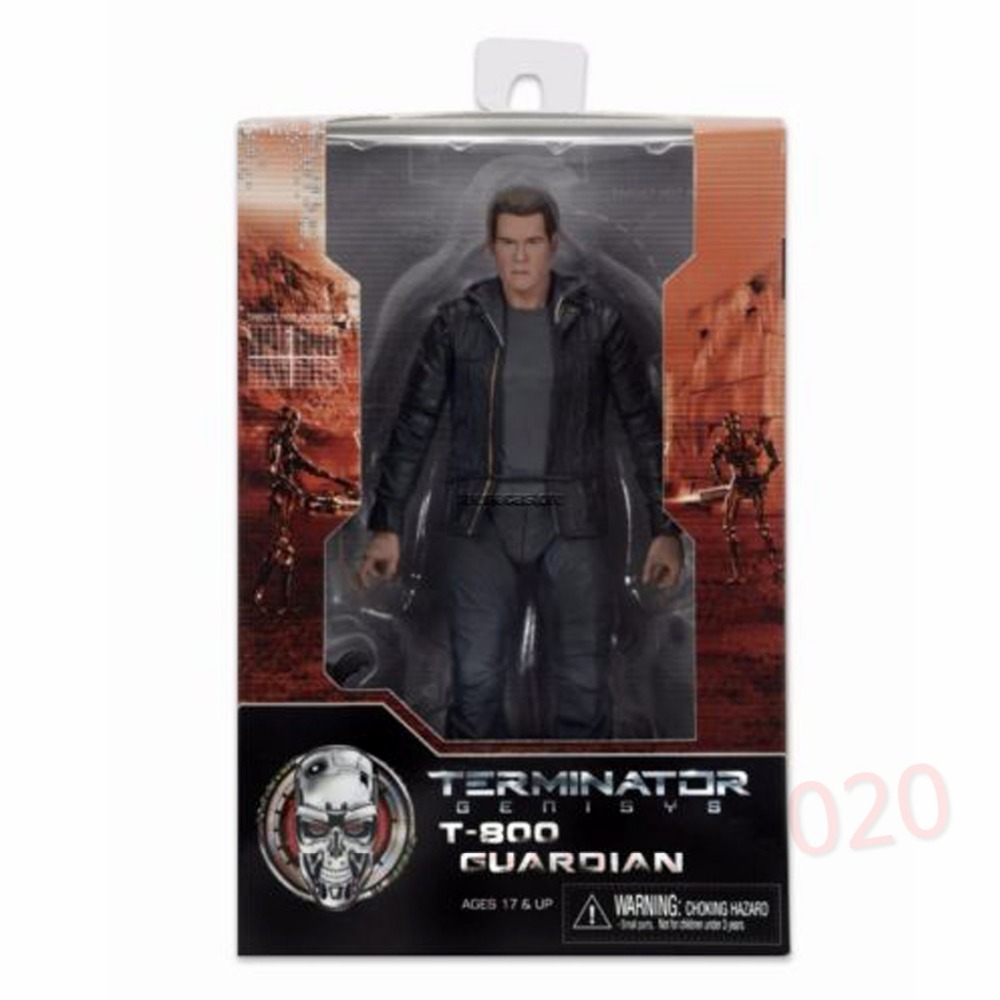 NECA Terminator Genisys 7 Guardian T-800 Action Figure NE009010 neca the terminator 2 action figure t 800 endoskeleton classic figure toy 718cm 7styles