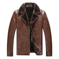 Commerce extérieur en peau de mouton d'hiver en cuir de laine hommes veste plus épais velours Vêtement Décontractés flocage Veste En Cuir Hommes de Vêtements
