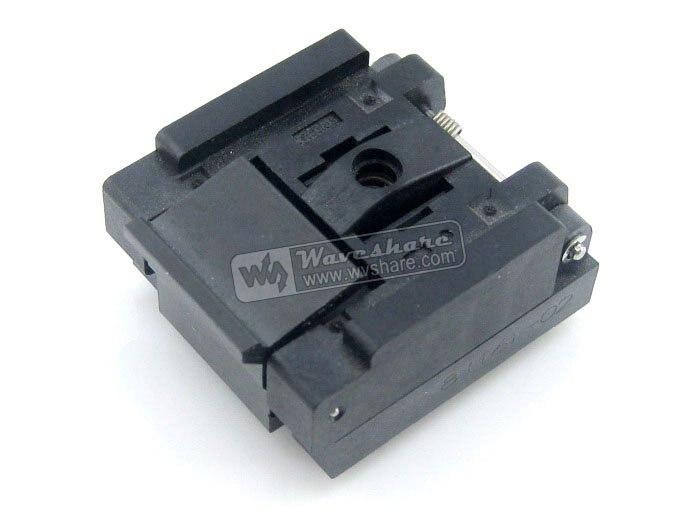 module QFN8 MLP8 MLF8 QFN-8(16)B-0.65-02 Enplas IC Test Socket Programming Adapter 3x3 mm 0.65mm Pitch  ltc2203cuk pbf ic ацп 16 битный 25msps 48 qfn ltc2203cuk 2203 ltc2203 ltc2203c ltc2203cu 2203c