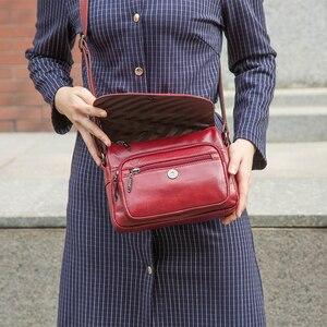 Image 5 - Altın mercan hakiki deri bayan omuz çantaları lüks kadın çanta kadın moda Crossbody çanta kadın büyük el çantası çanta