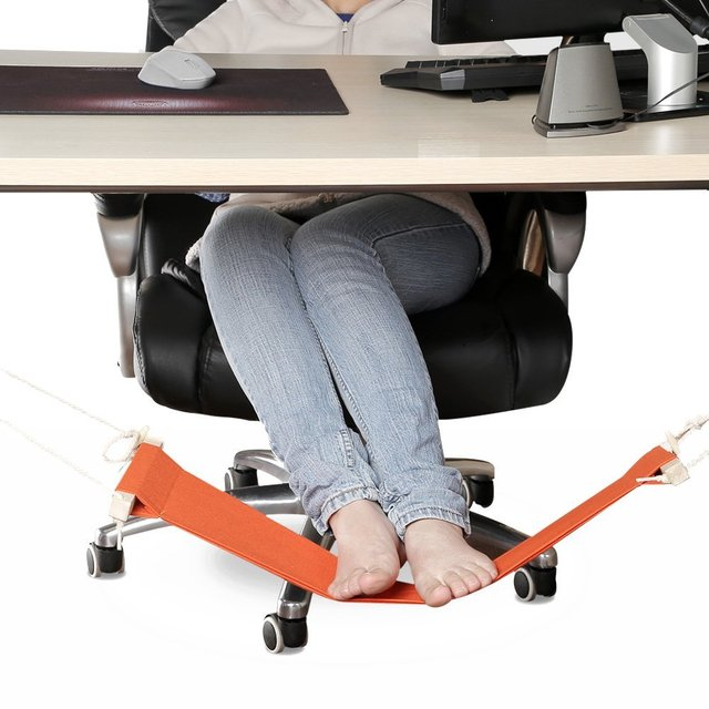Portable Adjule Mini Office Foot Rest Stand Desk Hammock Bed Put Your Up