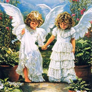 Diamentowe malowanie dwa anioły pełne wiertło mozaika majsterkowanie malowanie diamentowa ścieg haft Home dekoracyjne rzemiosło tanie i dobre opinie YI BRIGHT Z żywicy Plac OBRAZY Pełna W stylu europejskim i amerykańskim 30-45 PAPER BAG Zwijane PORTRAIT Pojedyncze