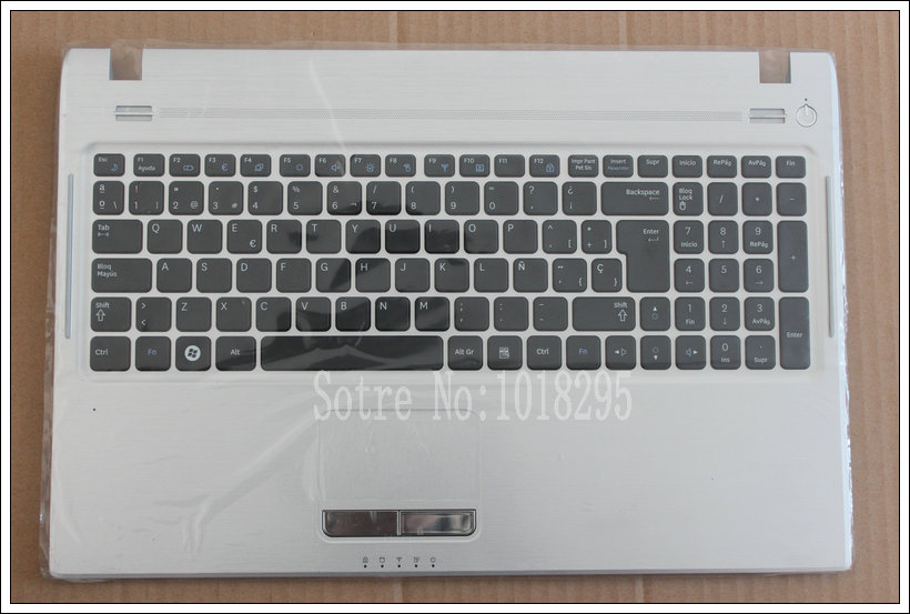 NEW For Samsung NP-Q530 Q530 Q530-Aura Star Q530-JT01 Palmrest Cover Spanish/SP Laptop Keyboard Touchpad BA75-02582d for samsung q530 keyboard c shell top page 2