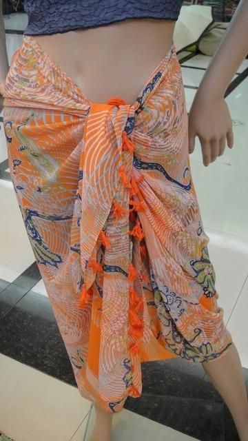 mujer playa Ropa Faldas de Fringe Sarong Seda Bufanda verano Playa Abrigos Borla de de Algodón qvAax6