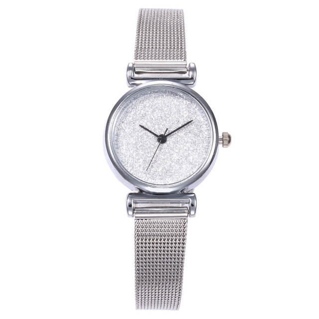 Exquisite Ladies Watch Elegant Female Stainless Steel Strap Quartz Wrist Watch S