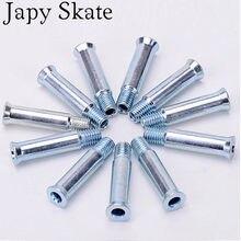 8 pces japy patins de rolo peças eixos de ferro para patins em linha parafusos de quadro de 8mm * 35mm para seba powerslide patines base