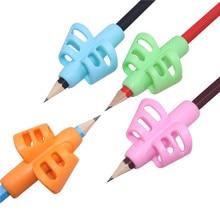 40 pcs עט אחיזת ידית כפולה אצבע סיליקון תלמיד מחזיק עט כתיבה עט תיקון מכשיר ילדי מכתבים מתנות