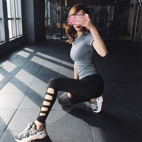 CHU YOGA 2018 Newest Hight Waist Training & Exercise Pants Women Sport Stretch Hollow Yoga Pants Fitness Tight Pants P1609