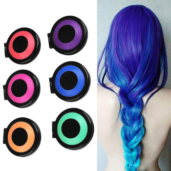 6 Colors Hair Dye Temporary Hair Chalk Powder Soft Salon Hair Color DIY Chalks for The Hair
