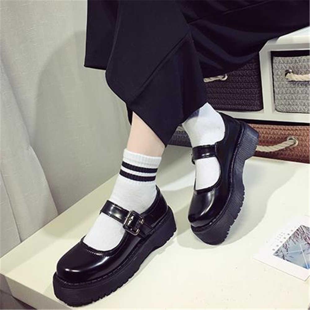 86a81c9b2500 Обувь «Маффин» Для женщин японский Стиль Круглоголовых Малый мягкой подошве  Колледж кукла тонкие туфли