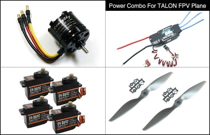 Power Combo za TALON FPV Plane motor esc prop servos kit X2814 FLYFUN - Kamera i foto