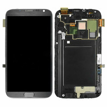 ЖК-дисплей для samsung Galaxy Note2 N7100 N7105 ЖК-экран дигитайзер протестированный note2 ЖК-дисплей с рамкой