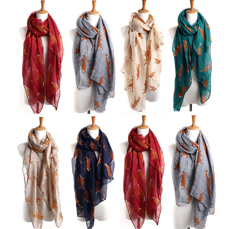 Women Fashion Pretty Long Soft Paris Yarn   Scarf     Wrap   Shawl Stole   Scarves   Hot FOX
