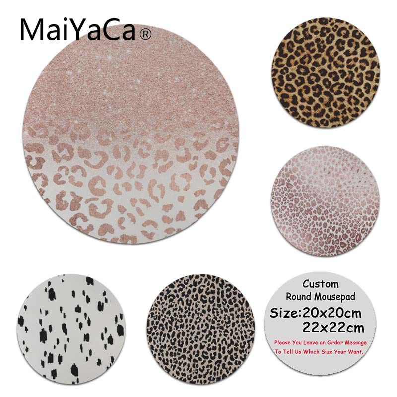 MaiYaCa Cool New Amazing Leopard Real Laptop Gaming Mice Mousepad Round Mouse Pad PC Computer Mat
