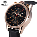 MEGIR Official 3D Display Business Quartz Watch Man Military Chronograph Wrist Watches Business Men Army Watch Relogio Masculino