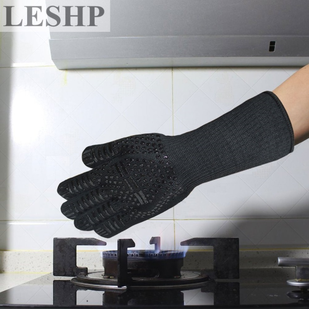 LESHP 1pcs Microwave Oven Gloves High Temperature Resistance Non-slip Oven Mitts Heat Insulation Kitchen Cooking Grilling Gloves new design silicone bbq gloves grilling bbq gloves heat resistant gloves oven mitts en 407