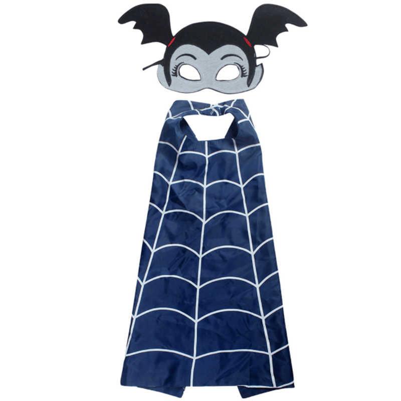 3PCS Vampirina קוספליי ילדים קריקטורה גלימת קייפ ומסכה סרט את נצלנית בת אישה ילדה קוספליי תחפושות אבזרי אביזרים