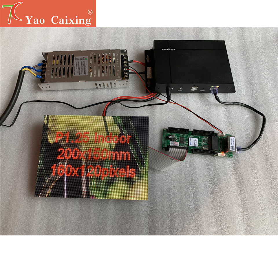 Yaocaixing Shipping Free Sending Box With P1.25 Indoor High Resolution Led Module ,receiving Card ,power Supply
