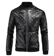 New Retro Vintage Mens Faux Leather Motorcycle Jackets Patchwork Classic Biker Jacket Punk Bomber Coats Size M-5XL