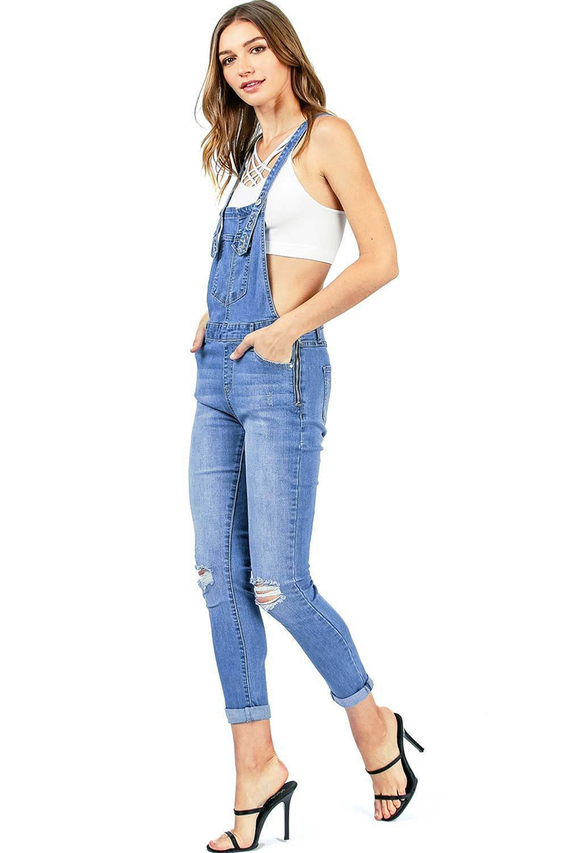 2018 New Arrival Sleeveless Jumpsuit Jeans Sexy Bodysuit Women Denim Overalls Rompers Girls Pants Jeans Ladies (5)