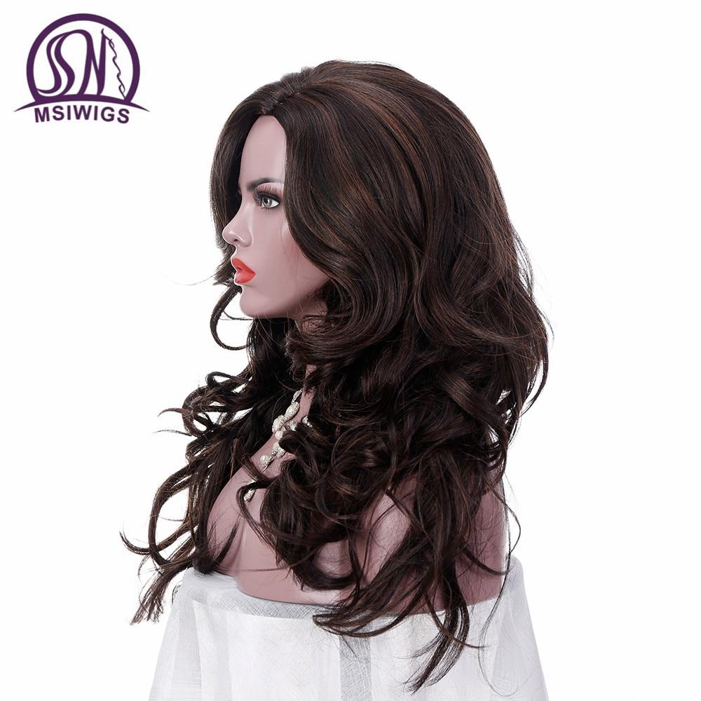 MSIWIGS 24 ίντσες μακρυές κυματιστές - Συνθετικά μαλλιά - Φωτογραφία 4