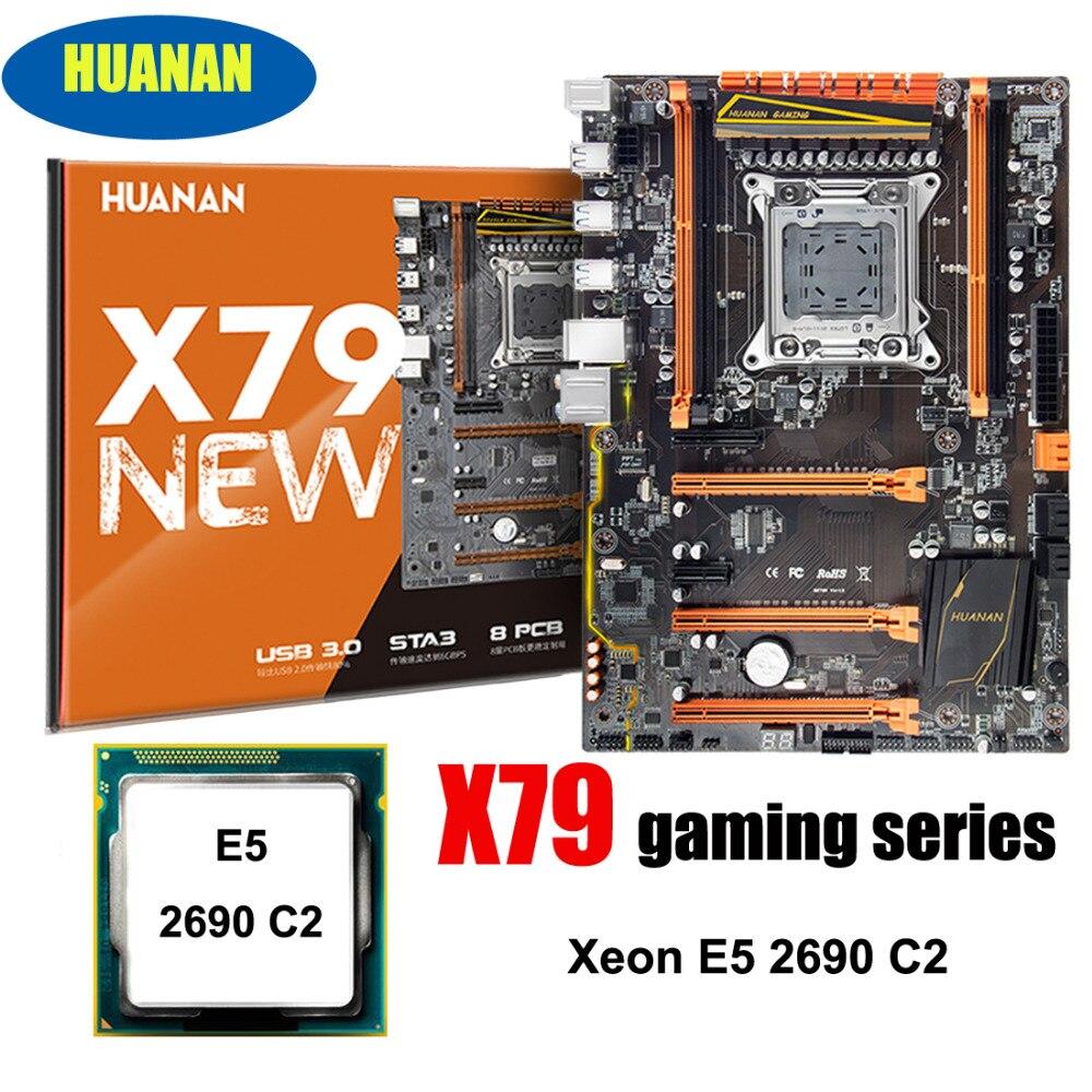 Boa qualidade Marca HUANAN ZHI deluxe X79 LGA2011 motherboard desconto pacote slot de CPU Intel Xeon motherboard com M.2 E5 2690 c2