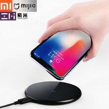 Original Xiaomi ZMI carregador sem fio suporte iPhoneX/8/8 p Samsung Note8 S9/7/8/ 8 + 10 w carregador de carga rápida inteligente sem fio