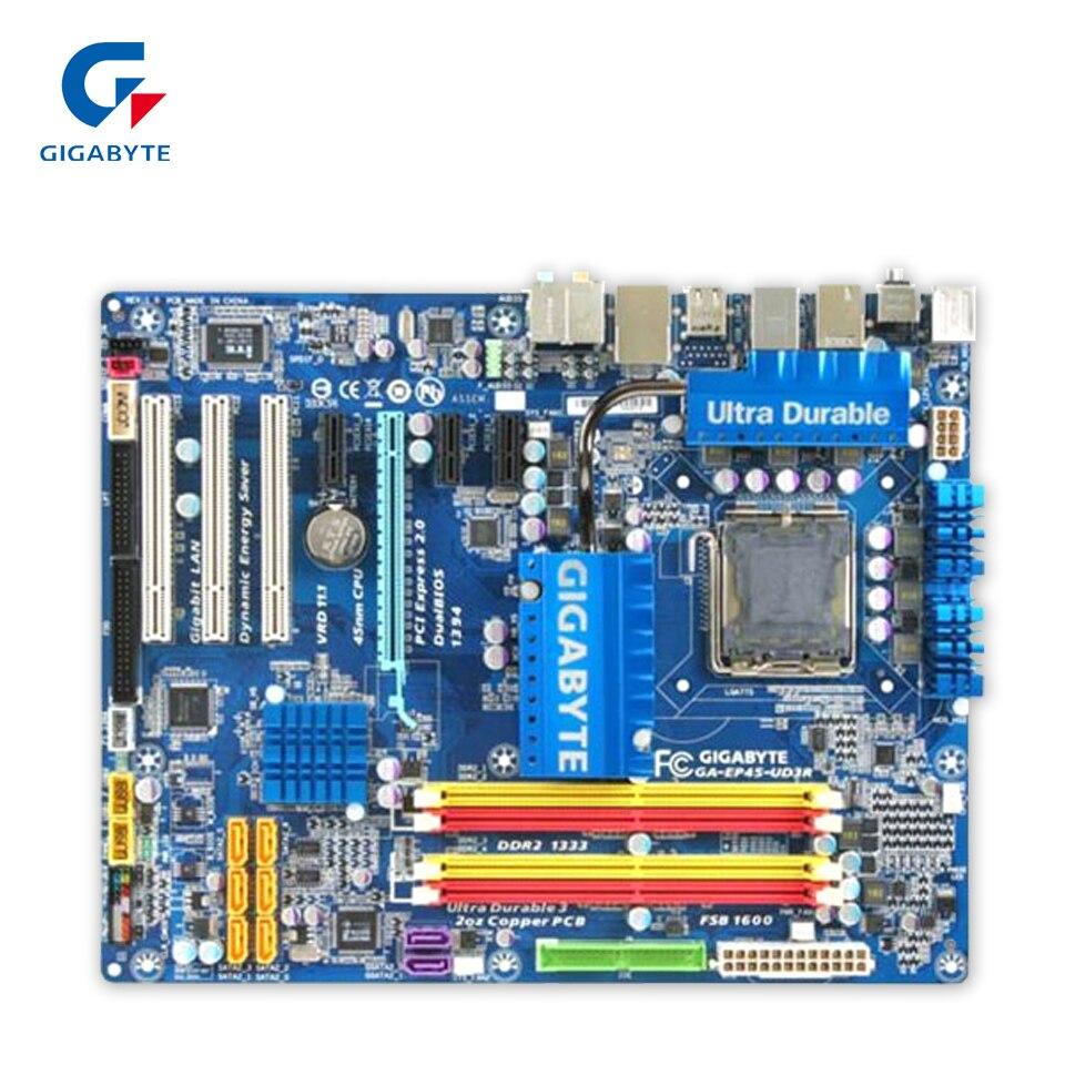 Gigabyte GA-EP45-UD3R Original Gebrauchte Desktop-Motherboard EP45-UD3R P45 LGA 775 DDR2 16G SATA2...