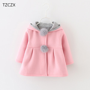 Image 2 - Hot Sale New Autumn&Winter Children Baby Girl Rabbit Ears Long Sleeve Jackets Clothes For 12 months to 4 Years Old Kids Wear