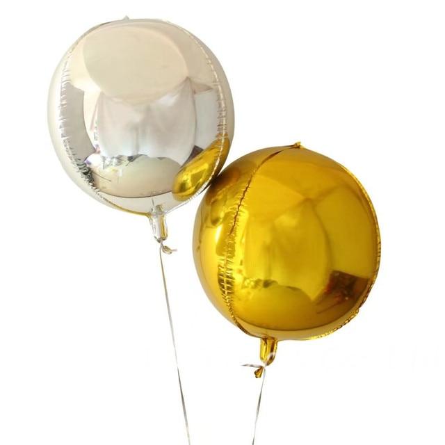 1 Stkspartij 24 Inch Zilver Goud Ballen Helium Ballonnen Grote