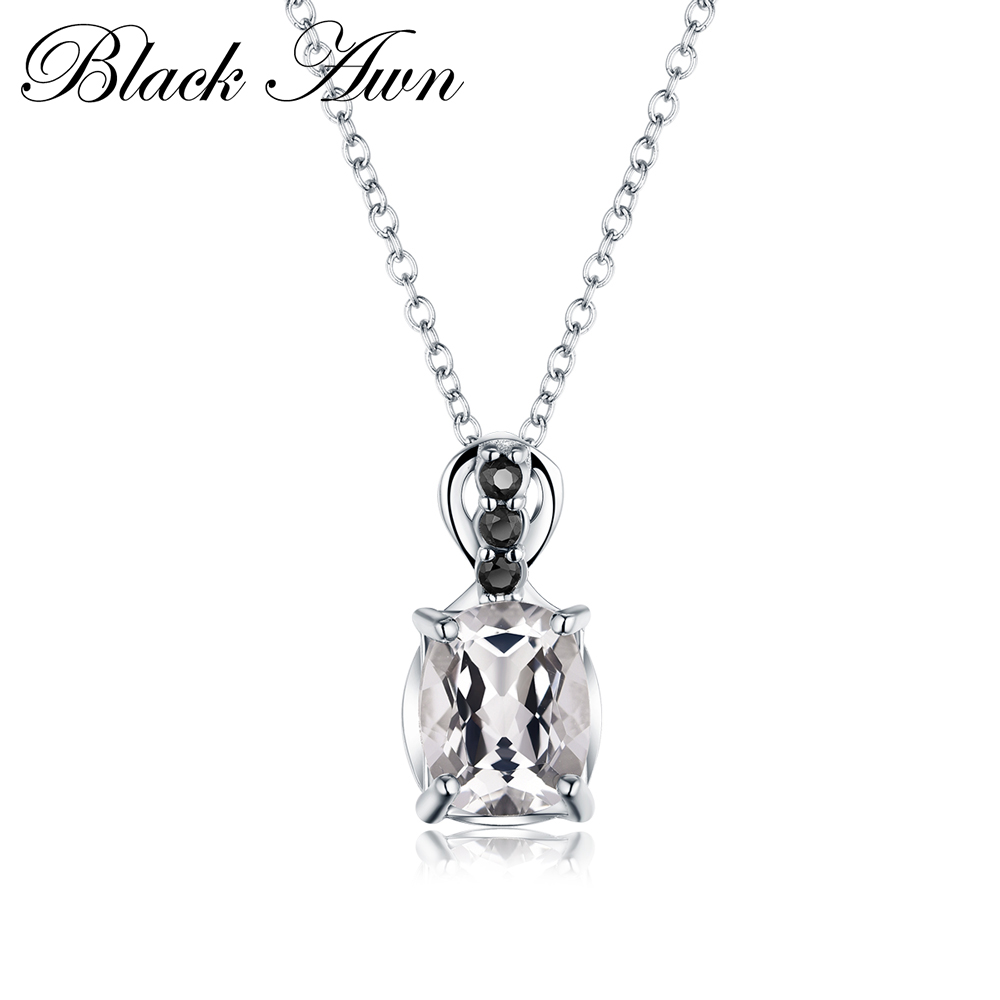 Charms Silver Necklace 925 Sterling Silver Fine Jewelry Trendy Engagement Necklaces For Women Wedding Pendants P160