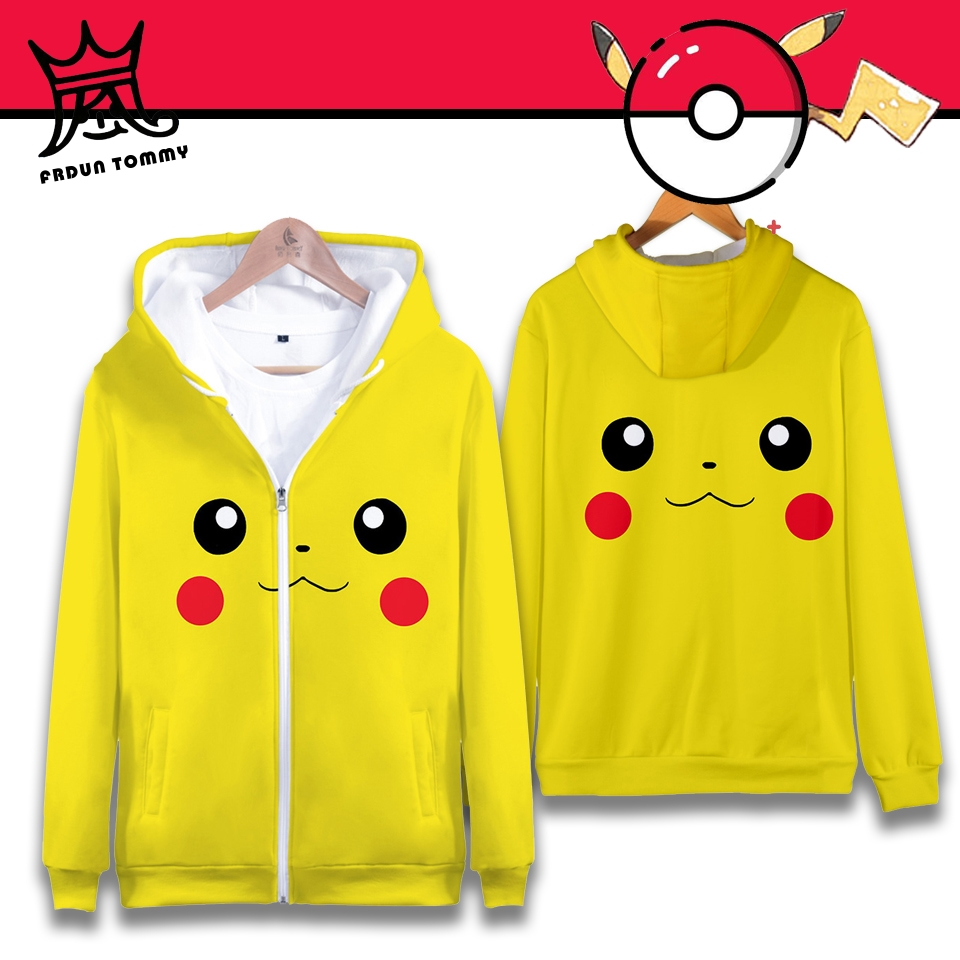Pokemon Detective Pikachu Women Zipper Hoodies Sweatshirt 3D Printed hoodies Anime Cartoon sweatshirt Japan Fashion Clothe-in Hoodies & Sweatshirts from Women's Clothing on AliExpress - 11.11_Double 11_Singles' Day 1