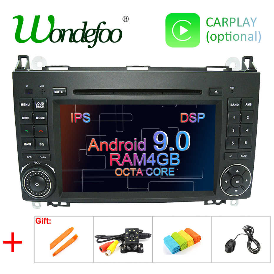 DSP ips Android 9,0 2 din gps для Mercedes Benz Sprinter B200 W209 W169 W169 b-класс W245 B170 Vito W639 мультимедийный плеер