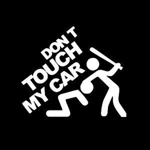 "Image 2 - SLIVERYSEA 安全警告ビニール車のステッカーないタッチ私の車 ""車のスタイリング車のオートバイデカールスタイリングアクセサリー # B1138"