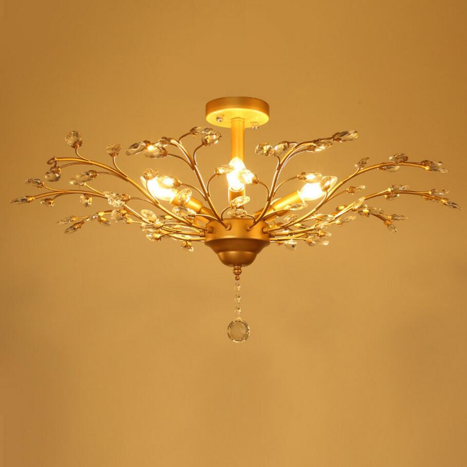 LED Ceiling Lights Crystal Lighting  Creative Personality Lamps Fixtures Living Room Lustre free shipping