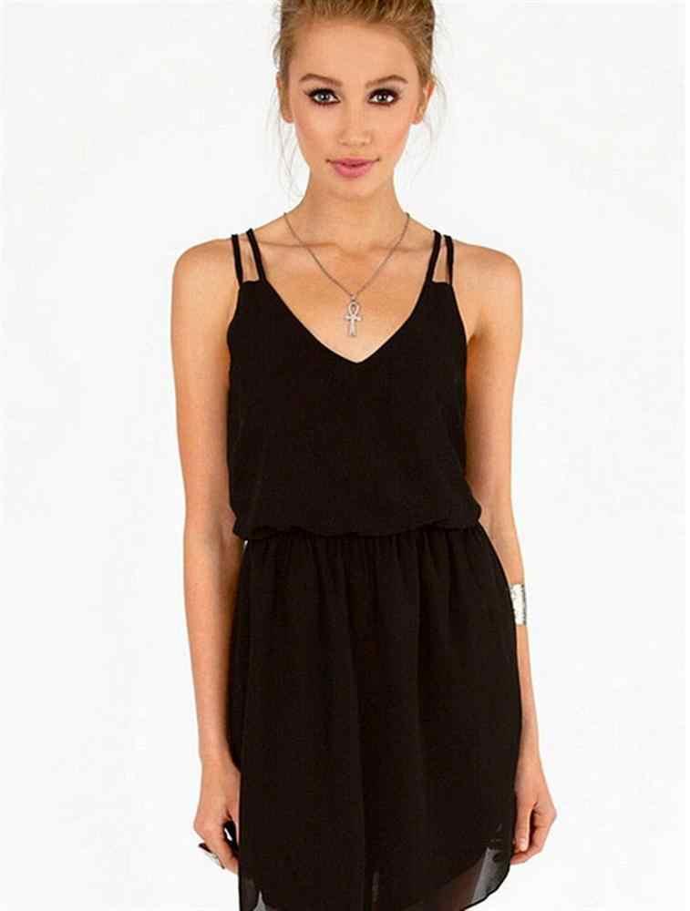 2019 ホットセクシーでエレガントなソリッドカラーのドレス V ネックヴィンテージノースリーブ締めウエストストリングベストドレスデートパーティー女性のドレス